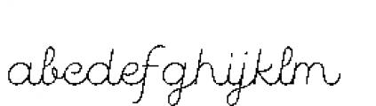 Quaderno Slanted Slanted 10 Font LOWERCASE
