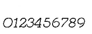 Quaderno Slanted Slanted 15 Font OTHER CHARS