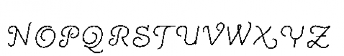 Quaderno Slanted Slanted 15 Font UPPERCASE