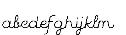 Quaderno Slanted Slanted 15 Font LOWERCASE