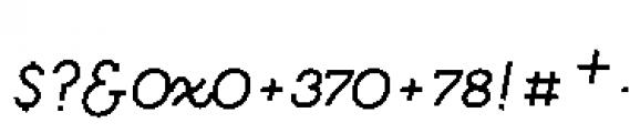 Quaderno Slanted Slanted 25 Font OTHER CHARS