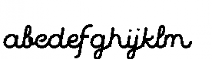 Quaderno Slanted Slanted 30 Font LOWERCASE