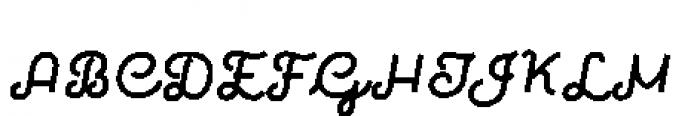 Quaderno Slanted Slanted Rough 33 Font UPPERCASE