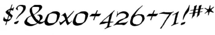 Quahog BB Italic Font OTHER CHARS