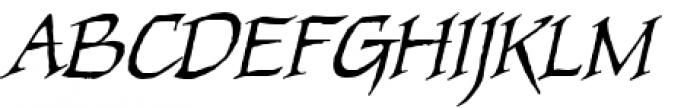 Quahog BB Italic Font UPPERCASE