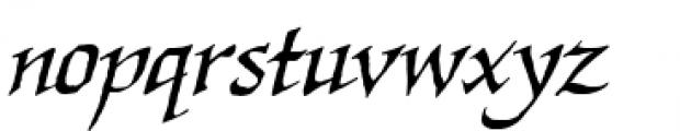 Quahog BB Italic Font LOWERCASE