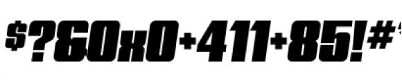 Quandor Ultra Oblique Font OTHER CHARS