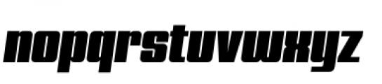 Quandor Ultra Oblique Font LOWERCASE