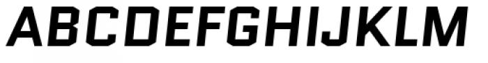Quantico Bold Italic Font UPPERCASE