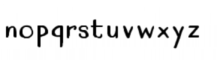 Quimbly Bold Font LOWERCASE