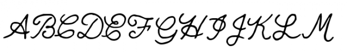 Quimby Mayoral Font UPPERCASE