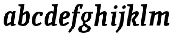 Quiroga Serif Pro Bold Italic Font LOWERCASE