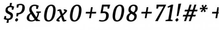 Quiroga Serif Pro Demi Bold Italic Font OTHER CHARS