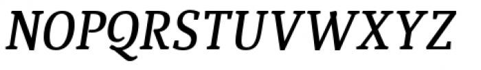 Quiroga Serif Pro Demi Bold Italic Font UPPERCASE