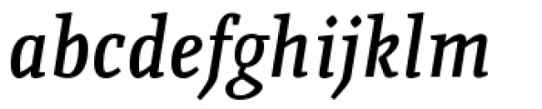 Quiroga Serif Pro Demi Bold Italic Font LOWERCASE