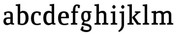Quiroga Serif Pro Demi Bold Font LOWERCASE