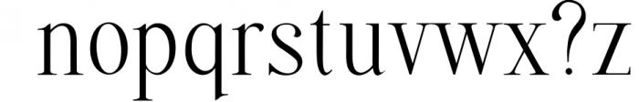 Quffer, serif regular font Font LOWERCASE