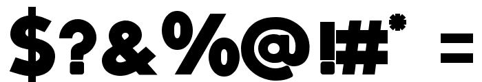 QUARTZO demo Bold Font OTHER CHARS