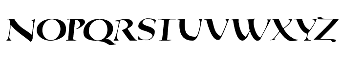 QuadrataRoma-MediumOblique Font UPPERCASE