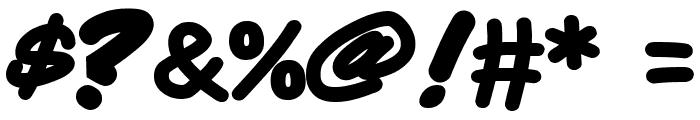 Quadrus Semicond Bold Italic Font OTHER CHARS