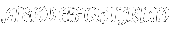 QuaelGothicHollow Font UPPERCASE