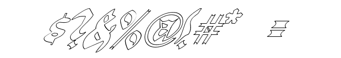 QuaelGothicHollowItalics Font OTHER CHARS