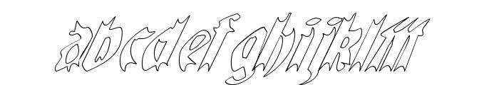 QuaelGothicHollowItalics Font LOWERCASE