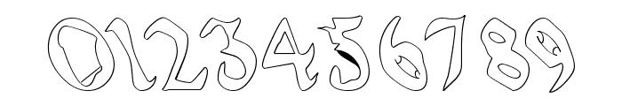 QuaelGothicHollowLefty Font OTHER CHARS