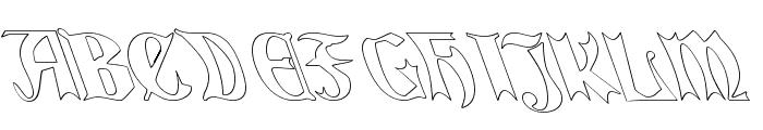 QuaelGothicHollowLefty Font UPPERCASE