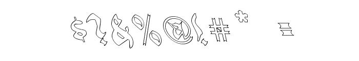 QuaelGothicHollowLeftyCondensed Font OTHER CHARS