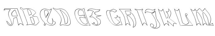QuaelGothicHollowLeftyCondensed Font UPPERCASE