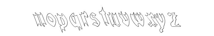 QuaelGothicHollowLeftyCondensed Font LOWERCASE