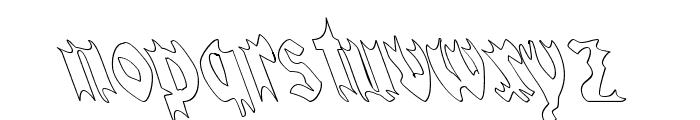 QuaelGothicHollowLefty Font LOWERCASE