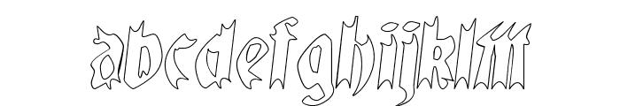 QuaelGothicHollow Font LOWERCASE