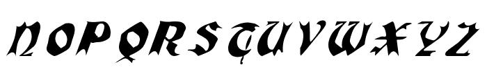 QuaelGothicItalicsCondensed Font UPPERCASE
