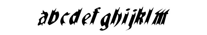 QuaelGothicItalicsCondensed Font LOWERCASE
