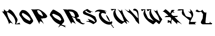QuaelGothicLeftyCondensed Font UPPERCASE