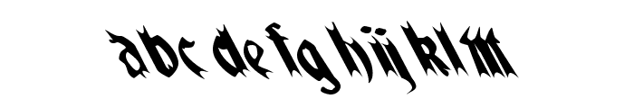 QuaelGothicLeftyCondensed Font LOWERCASE