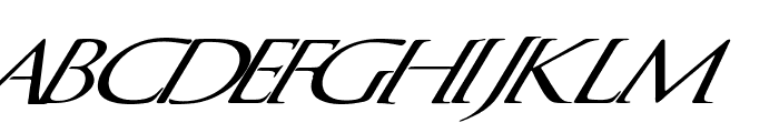 QuagentItalic Font UPPERCASE