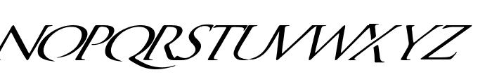 QuagentItalic Font LOWERCASE
