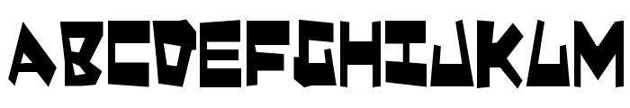 Quake & Shake Condensed Font UPPERCASE