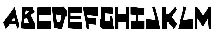Quake & Shake Condensed Font LOWERCASE