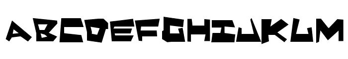 Quake & Shake Max Font UPPERCASE