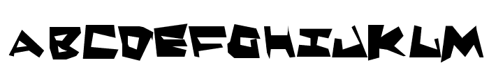 Quake & Shake SuperMax Font UPPERCASE