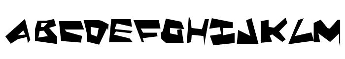 Quake & Shake SuperMax Font LOWERCASE