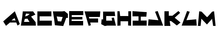 Quake & Shake Font LOWERCASE