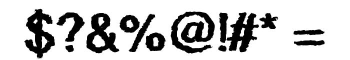 Quaky Font OTHER CHARS