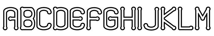 Quamaine Outline Font UPPERCASE