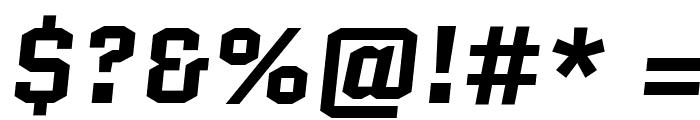 Quantico-BoldItalic Font OTHER CHARS