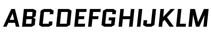 Quantico-BoldItalic Font UPPERCASE